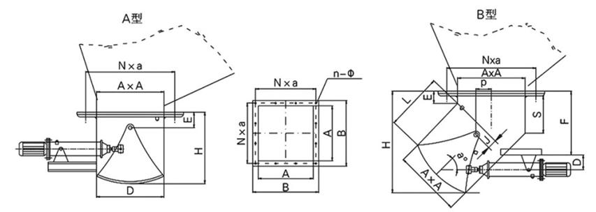 DSZ-口A(B)-II型热博体育官网动扇形闸门